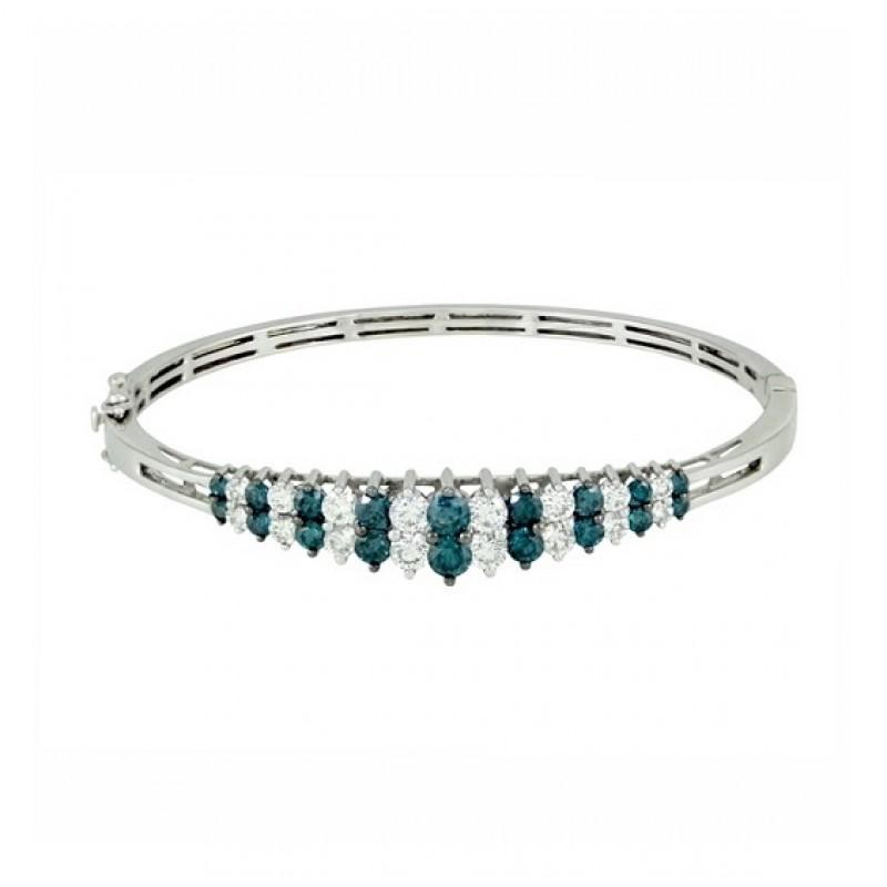 Blue and White Diamond Bracelet 28542