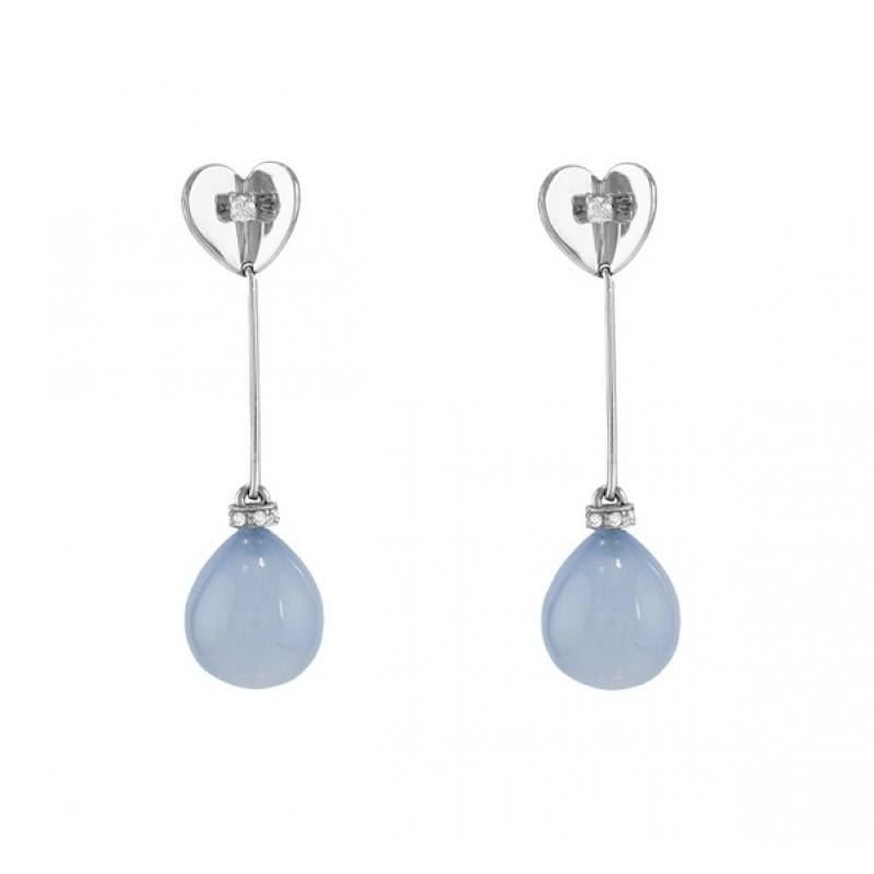 Escada Chalcedony and Diamond Dangle Earrings JH-OBDR