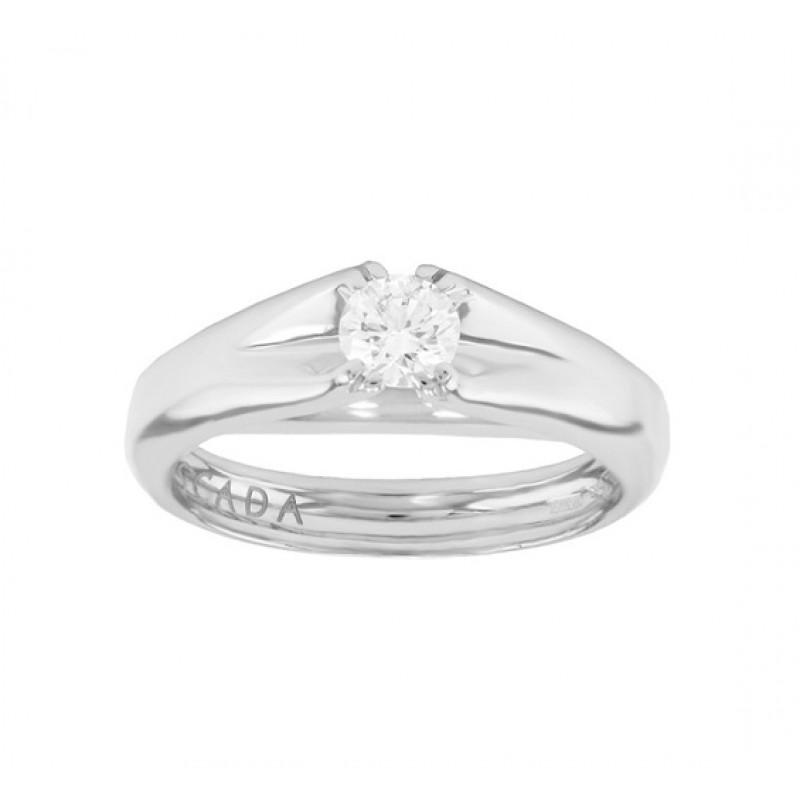 Escada Diamond Solitaire Engagement Ring Top 03TX-FF