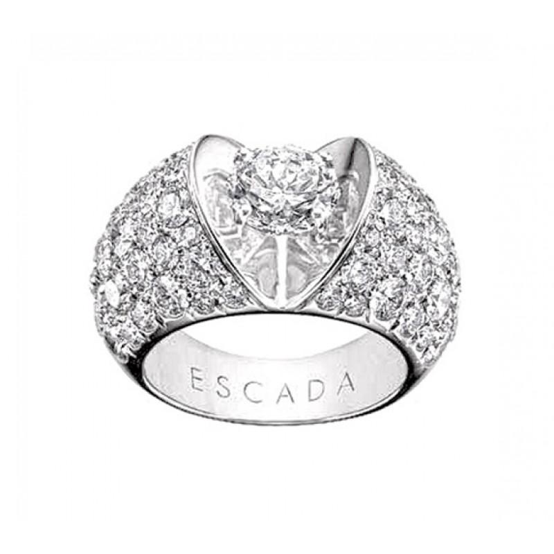 Escada Pavé Diamond Heart Ring ES-ELITE-03D3-CM