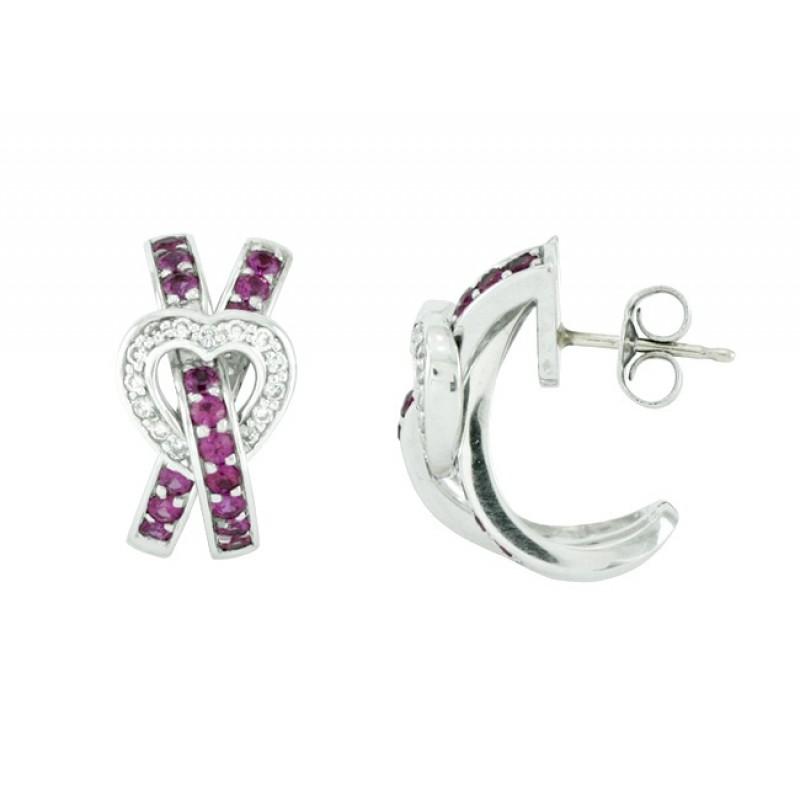 Féraud Pink Sapphire and Diamond Earrings FR04BE003