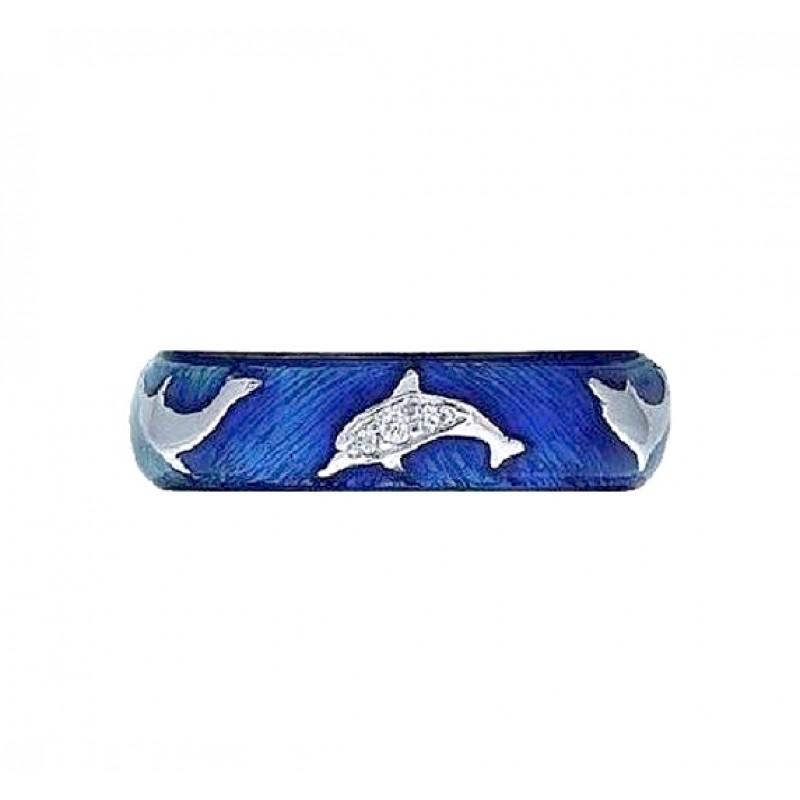 Hidalgo Dolphin Enamel Ring RS6384NDWG