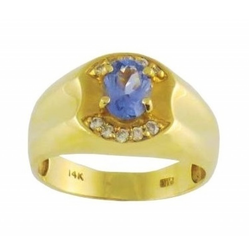 mens diamond ctw genuine men gold tanzanite s ring