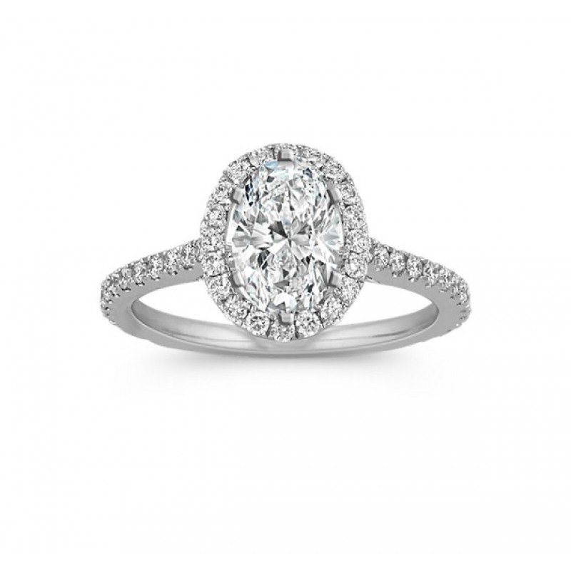 Oval Diamond Halo Engagement Ring 29182-25144