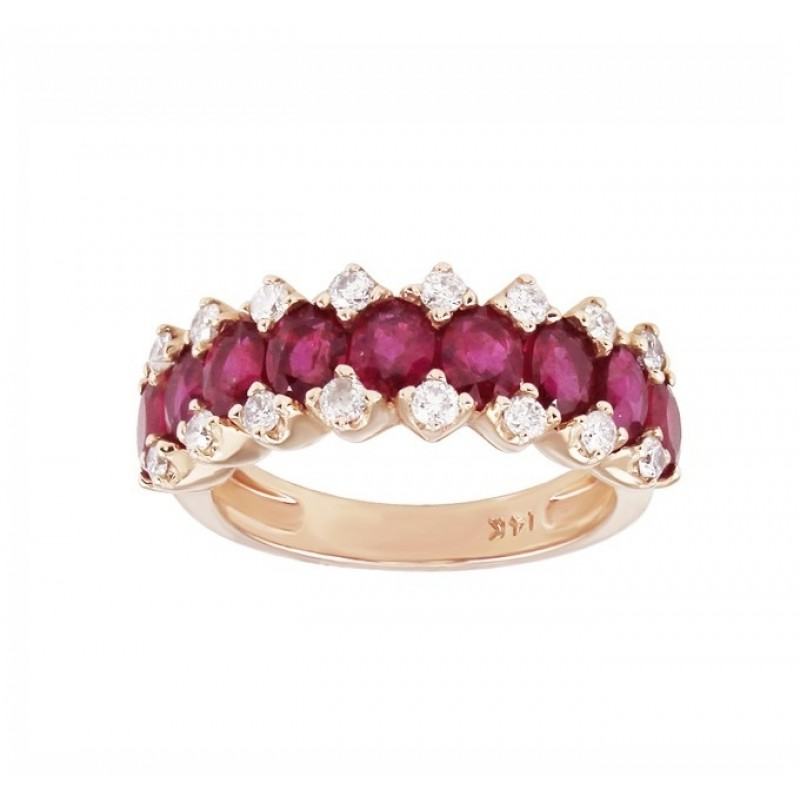 Oval Ruby and Diamond Ring 27910