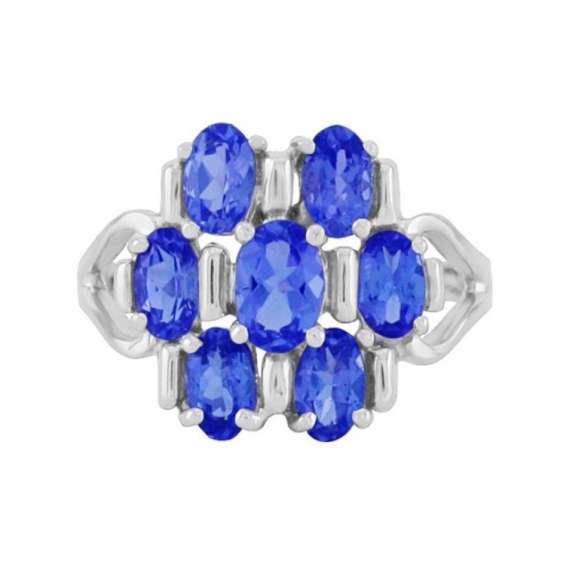 stone white tanzanite oval ring product cttw gold qvc com
