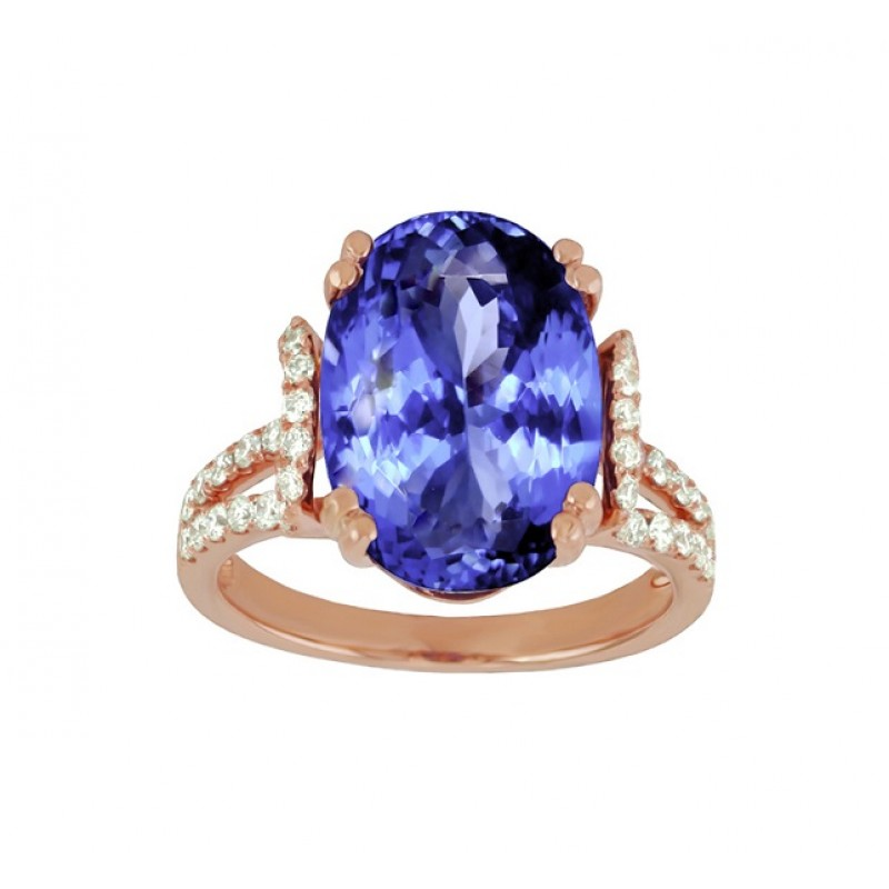 gold tanzanite halo ring anniversary blue diamond engagement dainty kysi purple il shank rose wedding grande oval double products fullxfull promise
