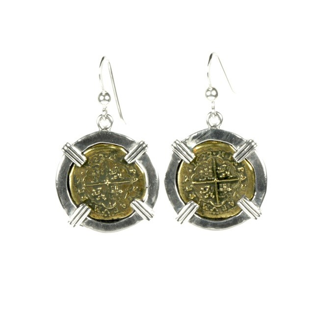 Atocha Ghost Galleon Ladies Coin Earrings 24527
