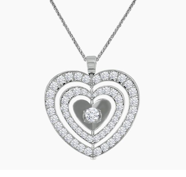 Escada Diamond Heart Necklace 14214ZJ