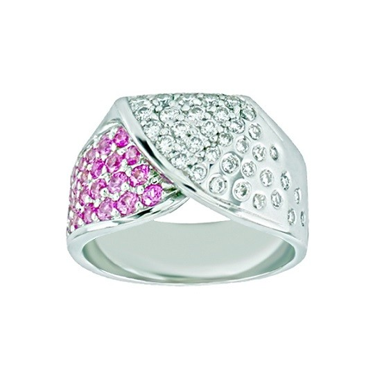 Féraud Pink Sapphire and Diamond Ring SK031GSRB