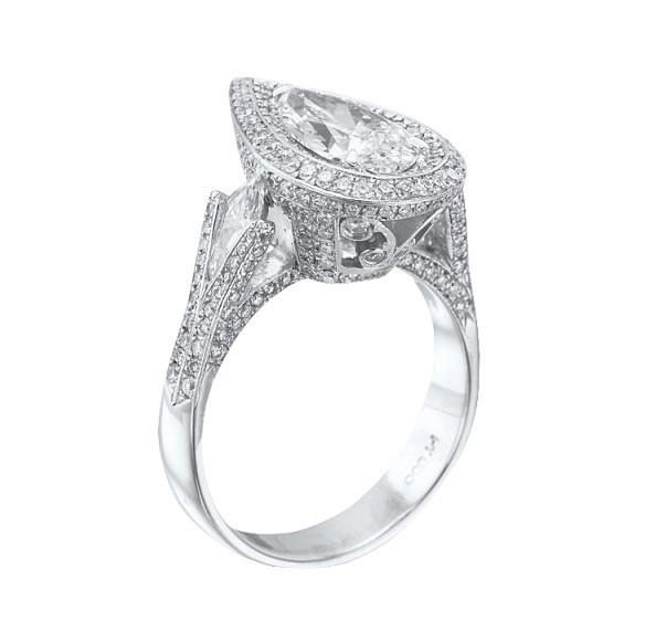 JB Star Pear Shape Diamond Ring