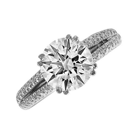 JB Star Split Shank Diamond Engagement Ring Top 1914/112