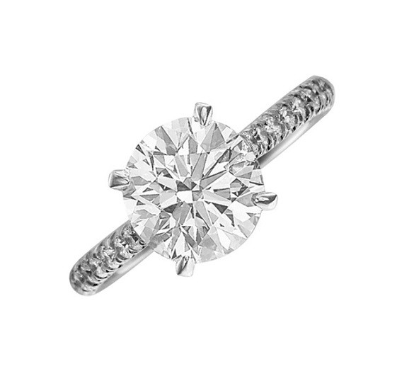 JB Star Tapered Diamond Engagement Ring Top 0110/011