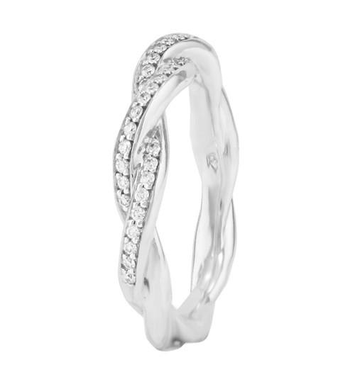Lazare Twist Diamond Wedding Ring