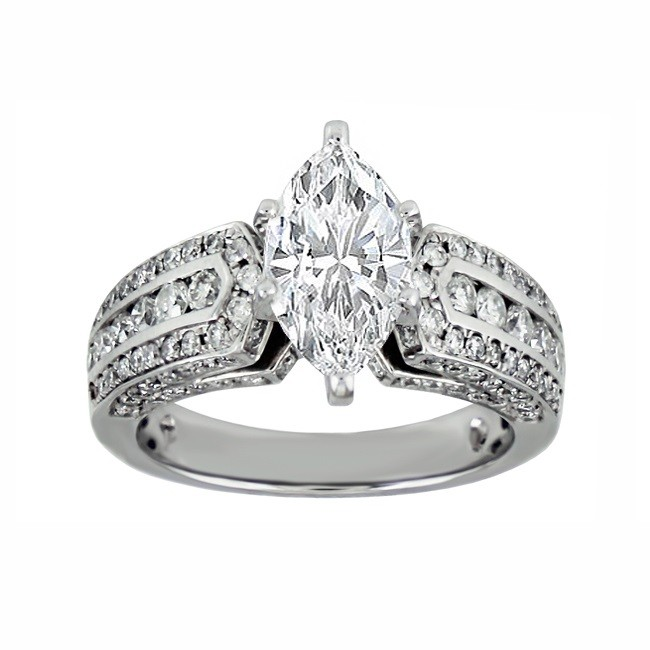 Marquise Diamond Engagement Ring 25338-27133