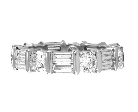 Martin Flyer Baguette and Round Diamond Eternity Band Top 5040PL