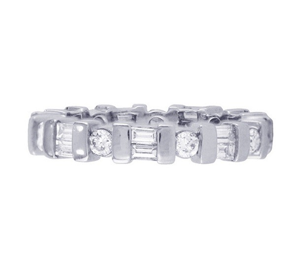 Martin Flyer Diamond Eternity Ring Flat 3856