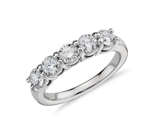 Martin Flyer Five Stone Diamond Ring 26879
