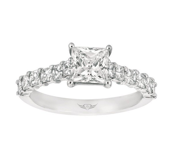 Martin Flyer Princess Cut Diamond Engagement Ring Top 5139SRCPL
