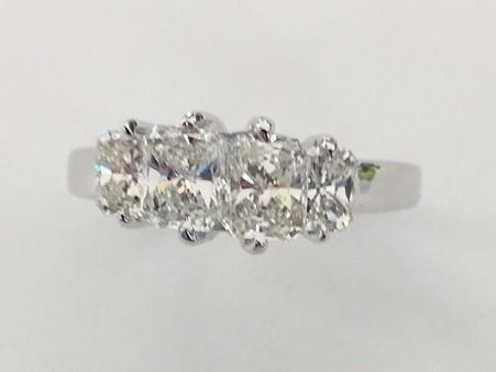 Martin Flyer Radiant Cut Diamond Ring 10155