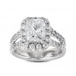 Split Shank Diamond Halo Engagement Ring Top 21182