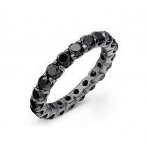 14k Black Gold Black Diamond Eternity Band 54802BLK-B