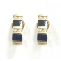 Black Onyx and Diamond Earrings 24220