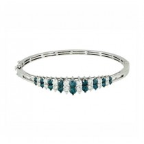 Blue and White Diamond Bracelet 28542