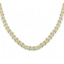 Flat Back Pearl Necklace 24685
