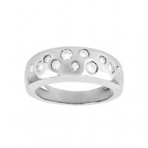 Flush Set Scattered Diamond Ring 18884