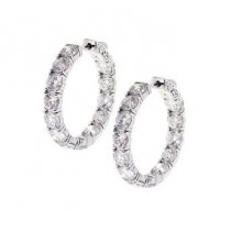 Inside Outside Diamond Hoop Earrings 28911