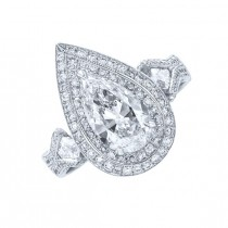 JB Star Pear Shape Diamond Ring Top SDS-1275-049