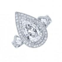 JB Star Pear Shape Diamond Ring Top SDS-1275-049