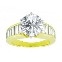 Martin Flyer Straight Baguette Diamond Ring 11600
