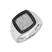 Mens Black and White Diamond Ring 27745