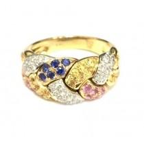 Multi Sapphire and Diamond Ring 26648