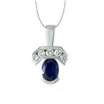 Oval Sapphire and Diamond Pendant 27531