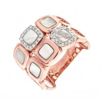 Pink Mother of Pearl and Diamond Ring 25832