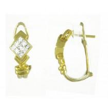 Princess Cut Diamond Earrings 18084