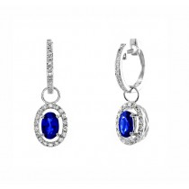 Sapphire and Diamond Dangle Earrings 26646