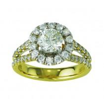 Split Shank Diamond Engagement Ring 20584