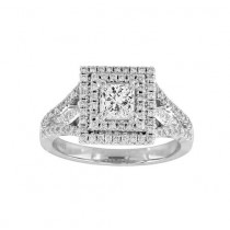Split Shank Princess Cut Diamond Ring Top 23442