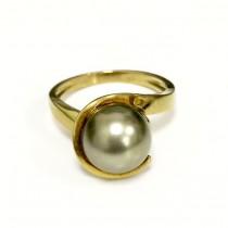 Tahitian Cultured Black Pearl Ring 20648