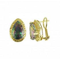 Teardrop Mystic Topaz Earrings 18154
