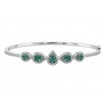 Teardrop Shape Blue and White Diamond Bracelet 25577