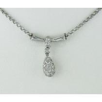 Teardrop Shaped Diamond Necklace 21356