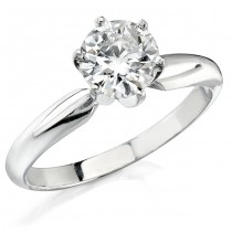 14k White Gold 1/5 Ct. Solitaire Diamond Ring