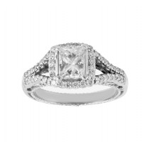 Verragio Venetian Princess Cut Diamond Engagement Ring Top AFN-5020CU-1