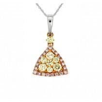 Yellow and Pink Diamond Pendant 27772