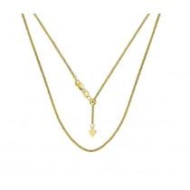 Yellow Gold Adjustable Wheat Chain 29209